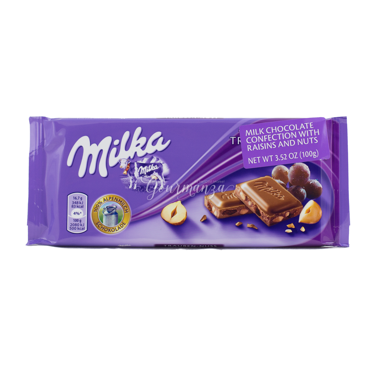 MILKA 100g Raisins & Nuts Chocolate