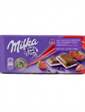 MILKA 100g Strawberry & Yoghurt Chocolate