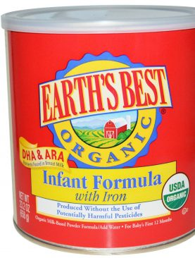 Earth's Best Baby Organic Infant Formula with Iron