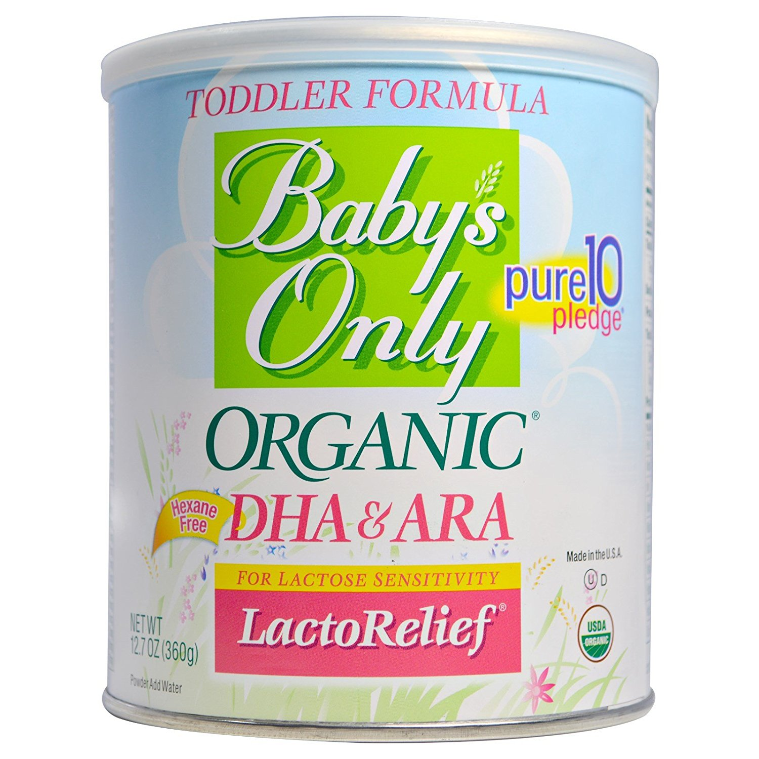 Baby S Only Organic Lactorelief With Dha Amp Ara Toddler