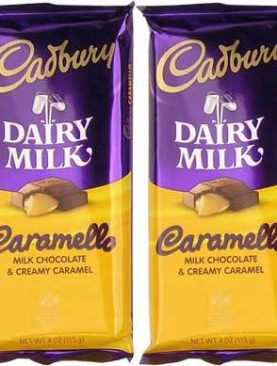Wholesale Cadbury Dairy Milk Caramello Milk Chocolate Candy Bar Ð 14 Ct. Case