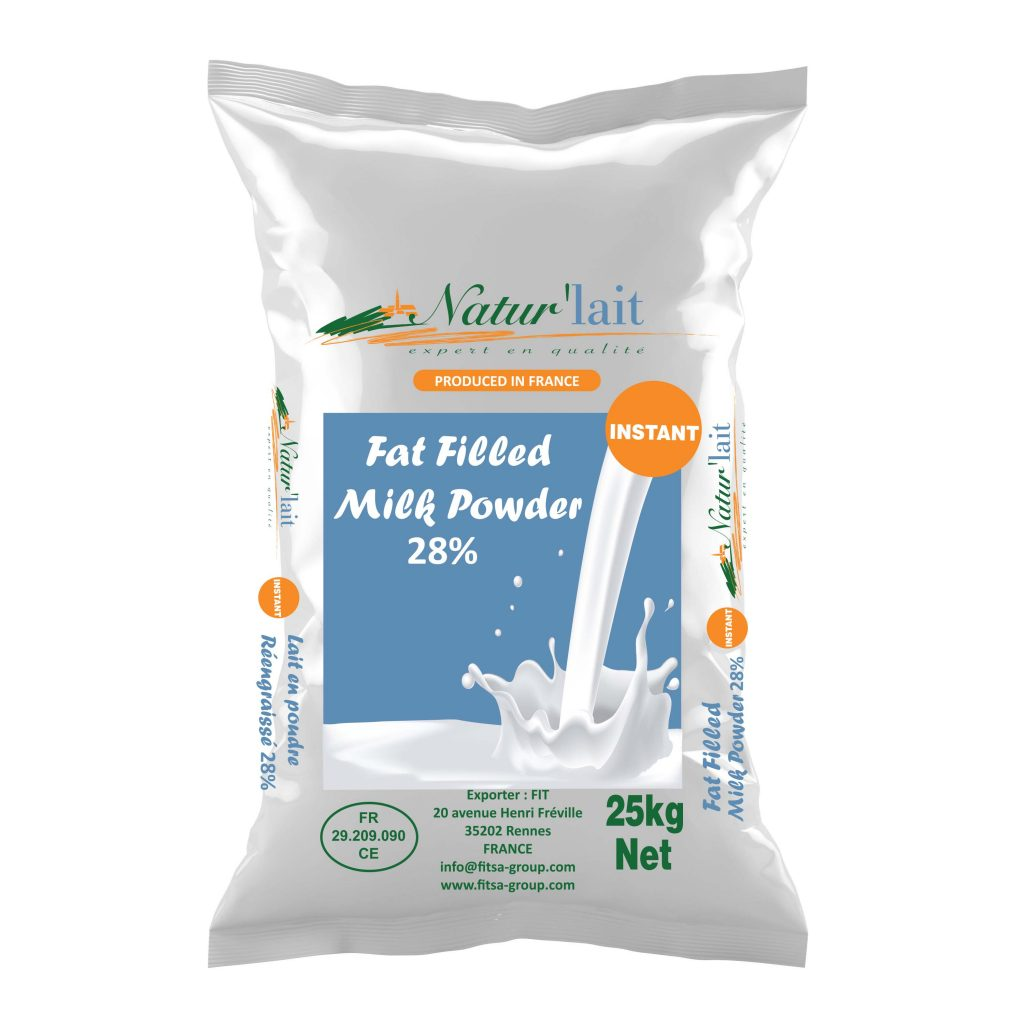 Fat Filled Milk Powder Suppliers, 25KG (28% Fat)