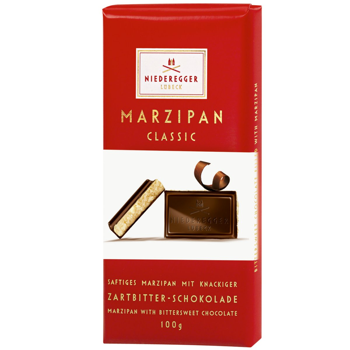 Wholesale Niederegger Classic Milk Chocolate Marzipan Bar